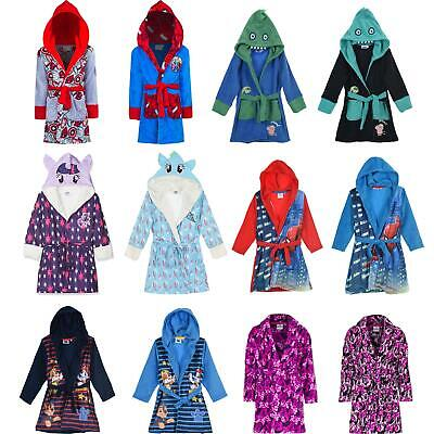 Girls/Boys Character Fleece Robe Kids/Childrens Dressing Gown Age 3-8