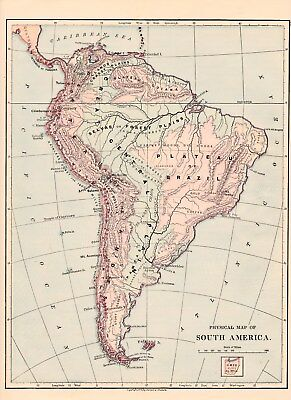 1875 Physical map South America