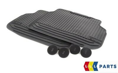 Bmw New Genuine 7 Series F01 Rear All Weather Black Rubber Floor Mats Pair