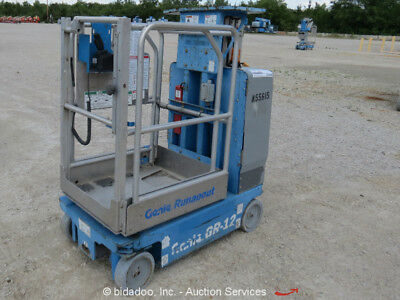 2008 Genie GR-12 12' Runabout Electric Mast Lift Personnel Manlift bidadoo