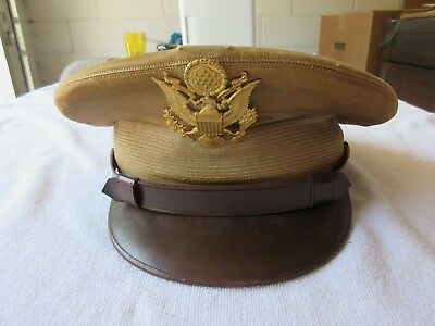 Post WWII U.S.Army Officer's Summer Visor Hat