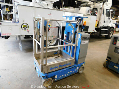 2009 Genie GR-15 15' Electric Mast Lift Personnel Man Aerial Stock Order Picker