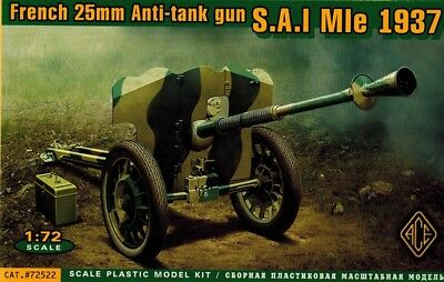 ACE 72522 - French 25 mm Anti Tank Gun S.A.I MIe 1937 - 1:72