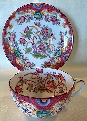 French Sarreguemines Chocolate Cup and Saucer 19th Century