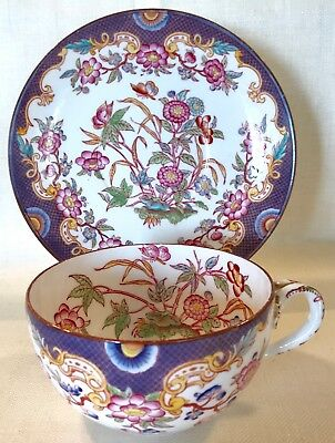 Chocolate Cup and Saucer Sarreguemines French 19th Century