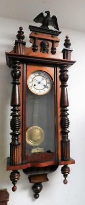 a walnut cased vienna wall clock c1900s