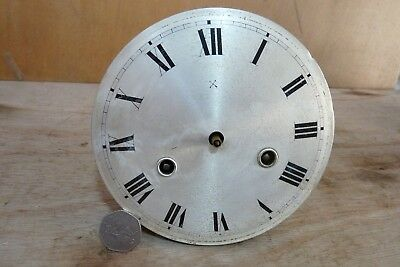 HAC brass clock movement. Parts missing. 5 & 3/4 inches diameter.