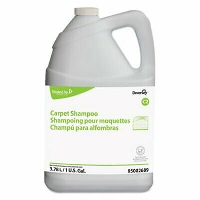 Diversey Carpet Shampoo, Floral, 1gal Bottle, 4/Carton (DVO95002689)