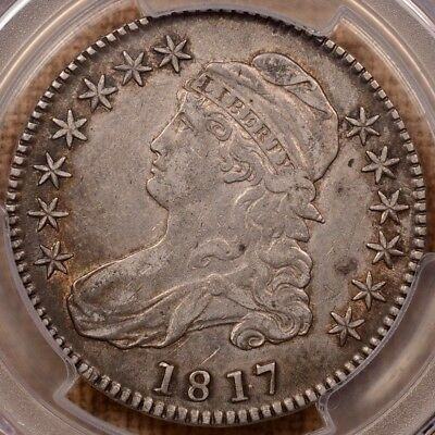 1817 O.103 Punctuated Dt Bust half, PCGS XF det, golden tone  DavidKahnRareCoins