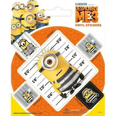 Despicable Me 3 Stickers Minions 5 Pack Fun Gift New Official Licensed Product