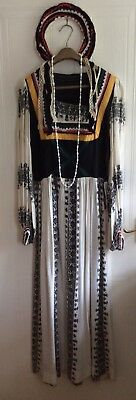 Traditional Greek Lady Costume Ideal For Stage, Theatre, Panto, Fancy Dress Etc.