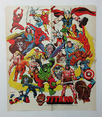 1975 Marvel poster 1:Spiderman/Avengers/Thor/Hulk/Iron Man/Captain America/Conan