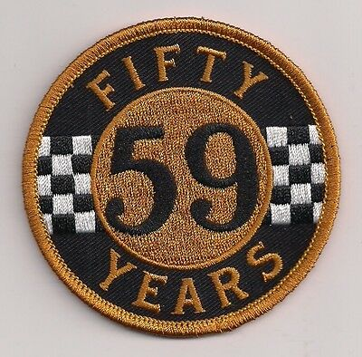 59 Club 50 years patch. 3 inch Rocker Ace Cafe Racer Triumph Ton Up