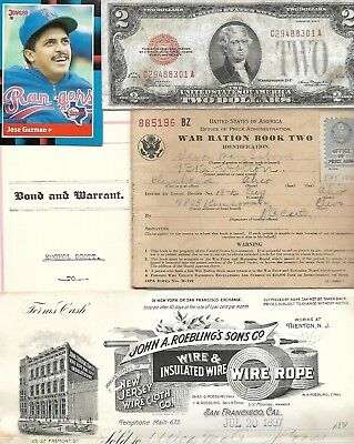 HUGE World Paper Document Lot:76 items w/22 banknotes