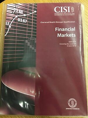 CISI Chartered Wealth Manager - Financial Markets (2018) PDF only workbook