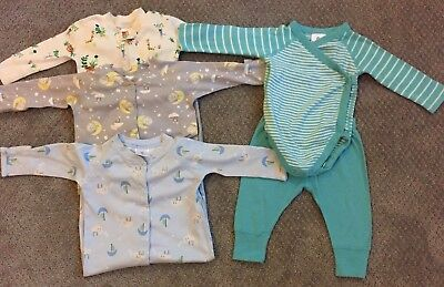 Lot of 4 Hanna Andersson Baby Outfits, Pajamas - Size 60