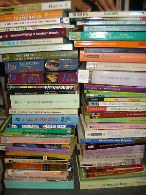 Lot Of 134 Paperback Classic Books Cliff Notes Home School