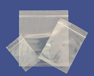 Grip Seal Gripseal Bags Resealable Self Seal Clear Polythene Plastic FREE POST