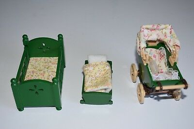 Sylvanian Calico critters 3 piece baby assortment 1985