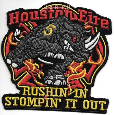 """*NEW*  Houston Station - 5  """"Stompin' It Out"""", TX (4.5"""" x 4.5"""" size)  fire patch"""