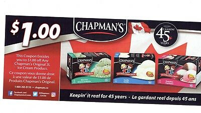 save on ice cream  Chapman's