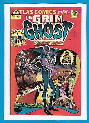 """The Grim Ghost #2_March 1975_Near Mint Minus_""""journey Of Death""""_Bronze Age!"""