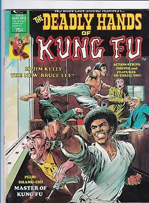 The Deadly Hands Of Kung Fu #3_Aug 1974_Vf_Adams Painted Cover_Enter The Dragon!