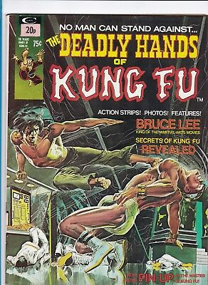 The Deadly Hands Of Kung Fu #1_Apr 1974_Vf_Neal Adams Painted Cover_Jim Starlin!