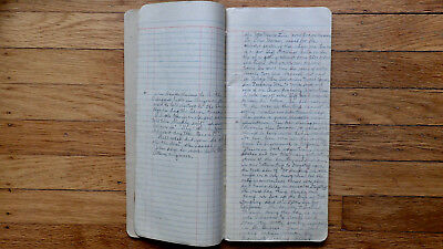 Circa 1897 Handwritten Travel Diary By Train Kansas California Grand Canyon Rare