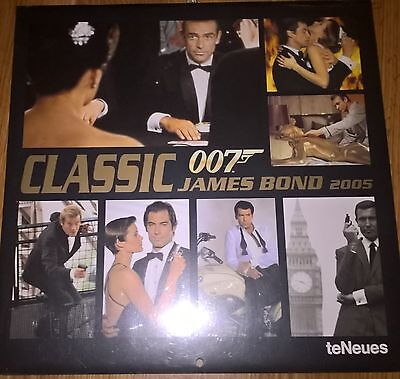 CLASSIC JAMES BOND 007 CALENDAR 2005 (New & Shrinkwrapped) teNeus COLLECTABLE