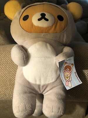 Rilakkuma Grey Sea Otter Costume Plush Stuffed SAN-X Brand New Japanese Design