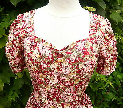 LAURA ASHLEY VINTAGE beautiful floral 50's style summer tea dress - UK 10