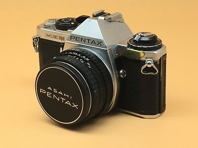 Pentax ME Super 35mm SLR Film Camera with 50mm Lens - Light Seals Replaced