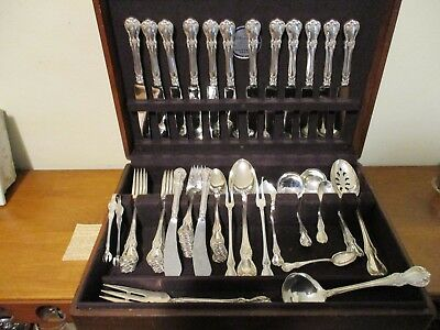 Towle Sterling Silver Flatware set OLD MASTER 65 piece set; lots of specialty
