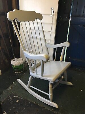 Wooden Rocking Chair Nursery Feeding