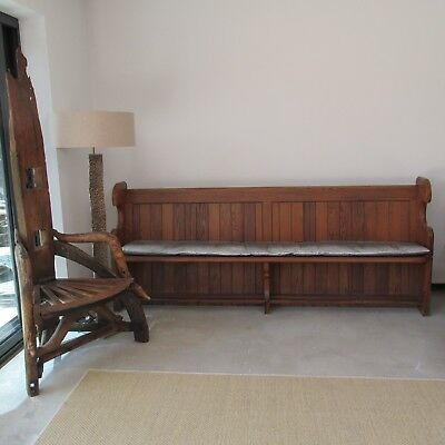 Huge wooden pew 235cm with cushion wooden bench, church pew, bar seating, seats5
