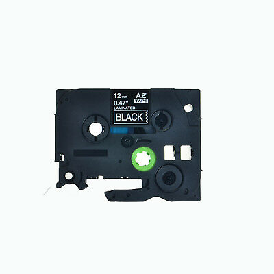 "1PK TZe TZ 335 White On Black Label Tape For Brother P-Touch PT-E100 1/2"" 12mm"