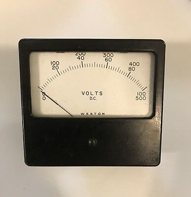 WESTON PANEL METER  0-100  0-500 DC Volts