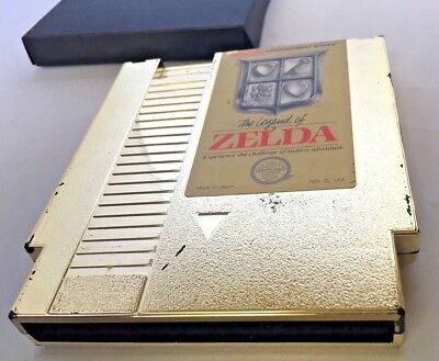 The Legend of Zelda 1 (Nintendo, NES) Authentic Gold Cart - Tested - Silver Seal