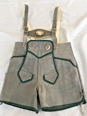 Vintage Lederhosen/Leather Shorts and Alpine hat-Child Size 3 from late1960s