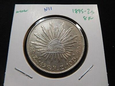 N11 Mexico 1895-Zacatecas 8 Reales
