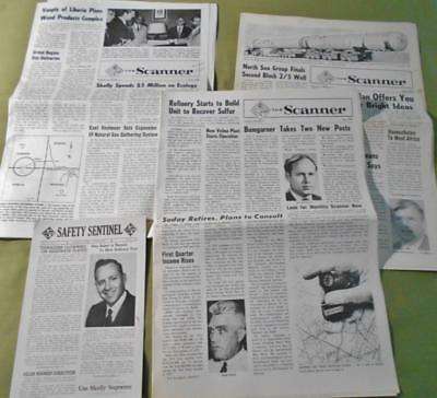 Skelly Oil Company The Scanner News Letter Papers & Safety Sentinel 1963 - 1974