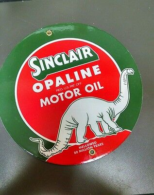 SINCLAIR OPALINE Gas Oil Porcelain advertising Sign
