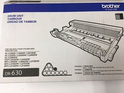 Genuine OEM Brother DR-630 Laser Drum Unit DR630 012502638957