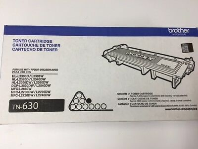 Genuine OEM Brother TN-630 Black Toner Cartridge TN630 012502638902