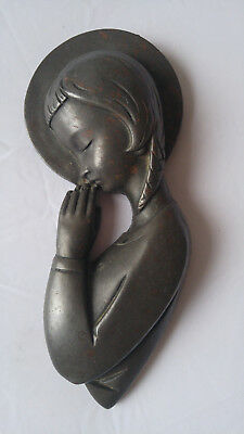 The Wild Goose Studio Madonna Cold-cast By Hand Kinsale, Ireland Wall Plaque