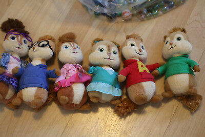 Ty Beanie Babies Alvin and the Chipmunks Plush Dolls Chipettes Complete Set  of 6 bedc98be81f1