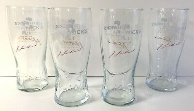 Smithwick's Premium Irish Ale 20 Ounce Glass Set Of (4) Smithwicks Glasses ~ NEW