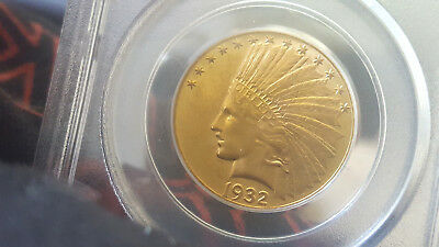 1932 $10 ten dollar Indian head gold coin PCGS 62 Old green holder OGH
