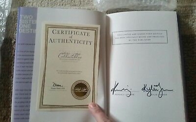 Kendall & Kylie Jenner Dual-Signed Time Of The Twins Book KARDASHIAN W COA